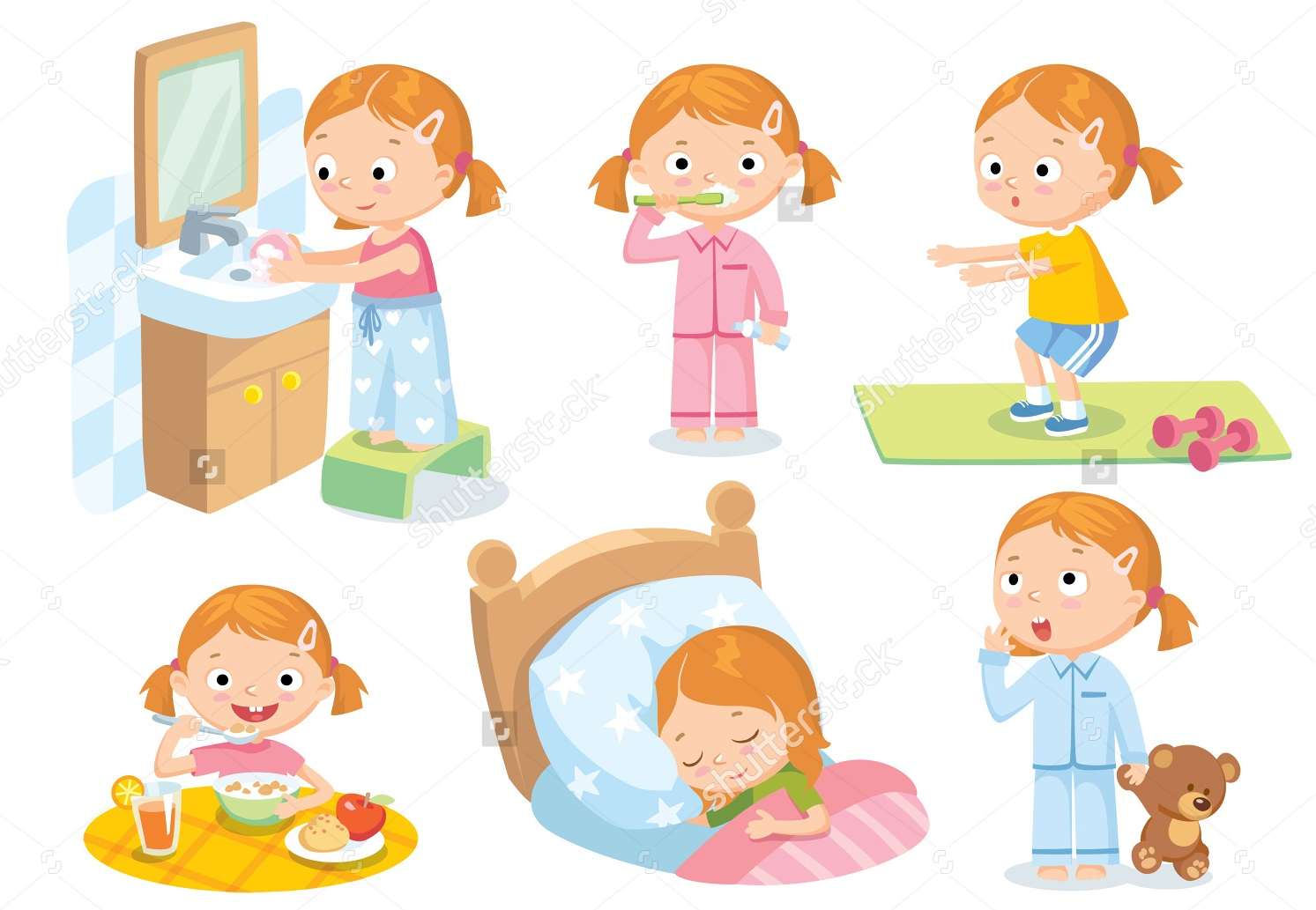 Helping your child doing daily routines independently